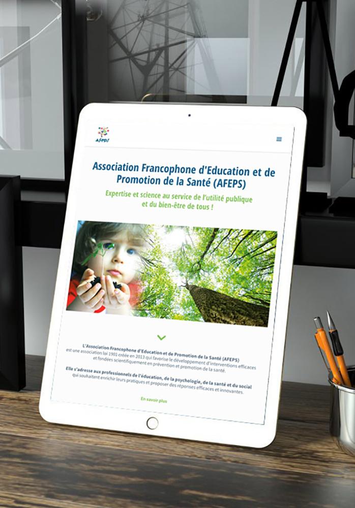 mise en page du site AFEPS.org