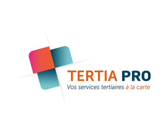 creation graphikalegria aline saussier logo TERTIAPRO services tertiaires a la carte pour TPE et artisans