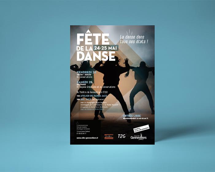 fete_de-la-danse_AFFICHE_gennevilliers-conservatoire- graphisme - Aline Saussier